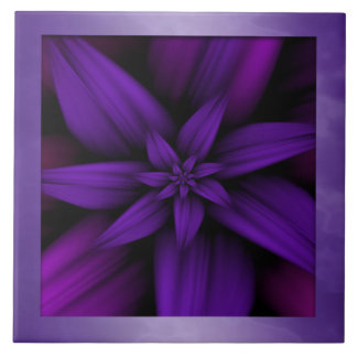 Purple Magenta Bloom Tile