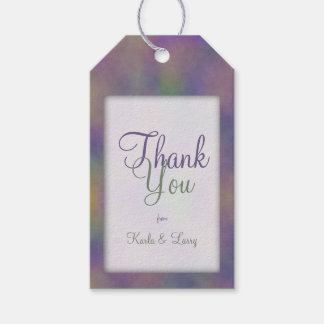 Purple Magenta Green Gold Thank You Gift Tags