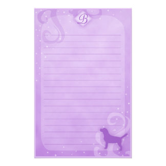 Purple Magic Beagle Stationery