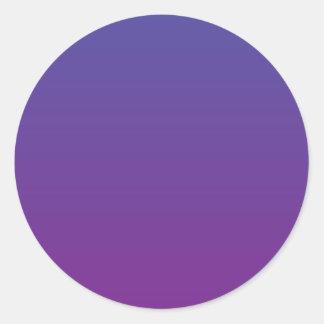 Purple Magic Classic Round Sticker