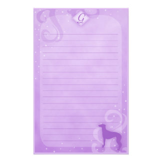 Purple Magic Greyhound Stationery