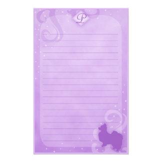 Purple Magic Papillon Stationery