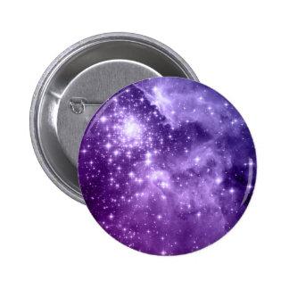 Purple Magic Stars 2 Inch Round Button