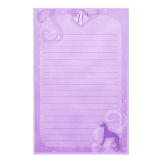 Purple Magic Whippet Stationery