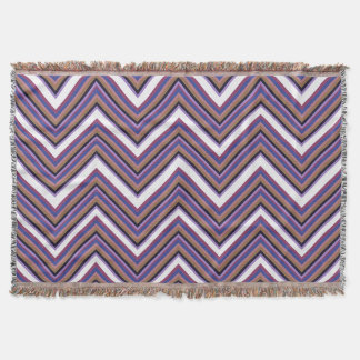 Purple Majesty Chevron Throw Blanket