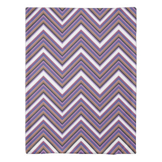 Purple Majesty Chevrons Duvet Cover