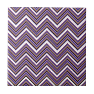 Purple Majesty Chevrons Tile