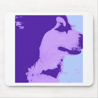 Purple Malamute Pop Art Mouse Pad