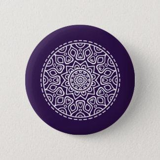 Purple mandala 2 inch round button