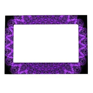 Purple Mandala Art-Magnetic Frame by SQ Streater