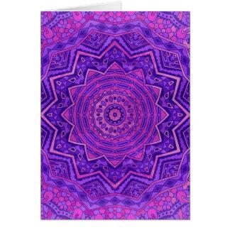 Purple mandala card