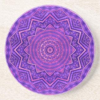 Purple mandala coasters