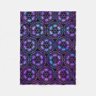 Purple Mandala Fleece Blanket