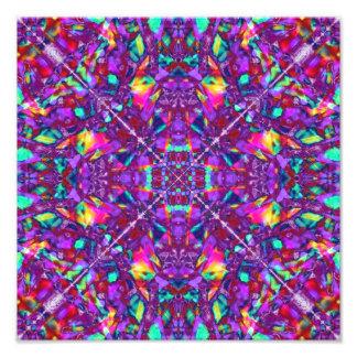 Purple Mandala Hippie Pattern Photograph