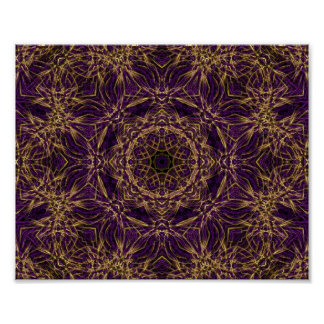 Purple Mandala Hippie Pattern Poster