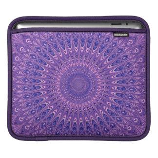 Purple mandala iPad sleeve