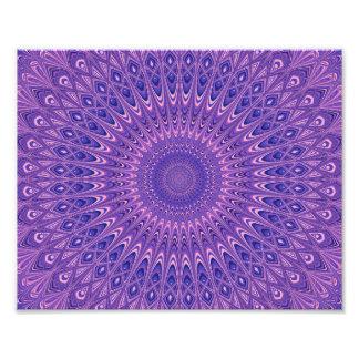 Purple mandala photo