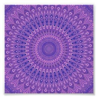 Purple mandala photo print