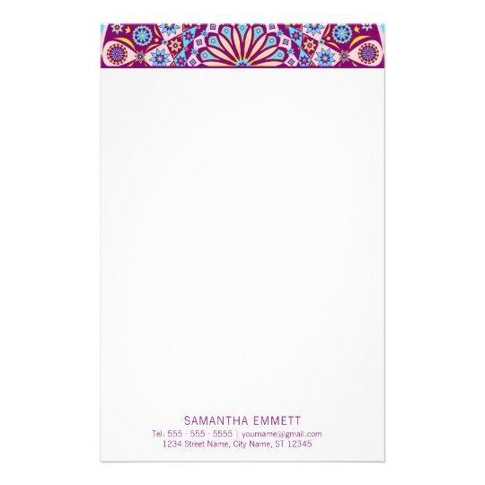 Purple Mandala Professional Modern Stationery