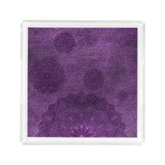 Purple Mandala Serving Tray