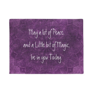Purple Mandala Spiritual Quote Door Mat