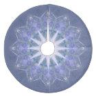 Purple Mandala Star Geometric Pattern Fleece Tree Skirt