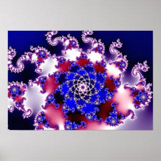 Purple Mandelbrot Star Fractal Poster