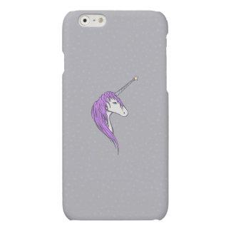 Purple Mane White Unicorn With Star Horn