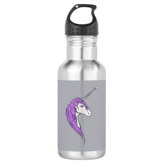 Purple Mane White Unicorn With Star Horn