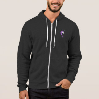 Purple Mane White Unicorn With Star Horn Hoodie