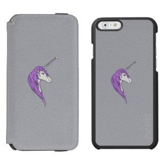 Purple Mane White Unicorn With Star Horn Incipio Watson™ iPhone 6 Wallet Case