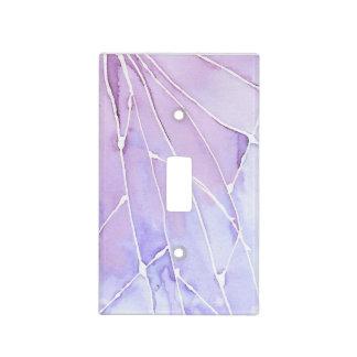 Purple Marble Break Light Switch Cover