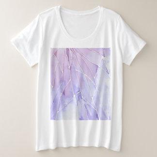 Purple Marble Break Plus Size T-Shirt