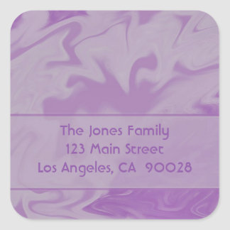 Purple Marble Design Square Sticker