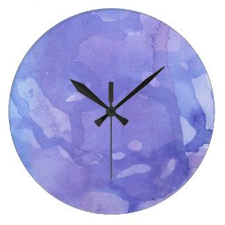 Purple Marble Large Clock