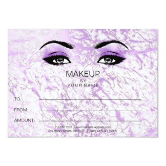 Purple Marble Makeup Beauty Certificate Gift Card