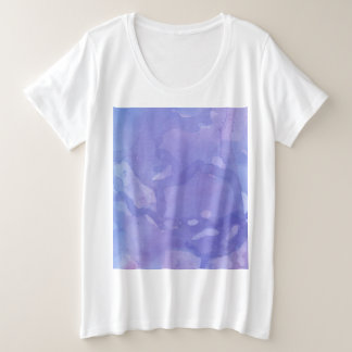 Purple Marble Plus Size T-Shirt