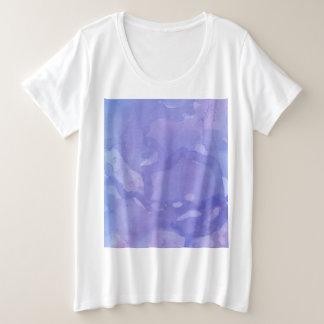 Purple Marble Plus Size T-Shirt