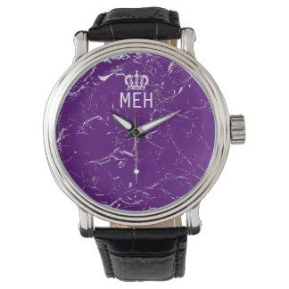 Purple Marble Royal Minor Monogram Watch