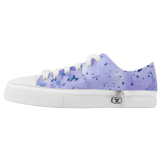 Purple Marble Splat Low-Top Sneakers