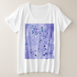 Purple Marble Splat Plus Size T-Shirt