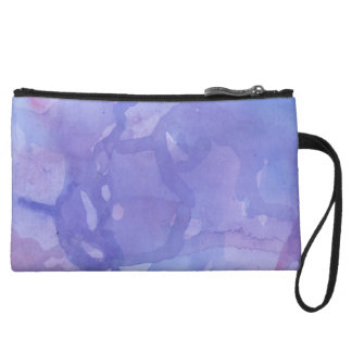 Purple Marble Watercolour Wristlet