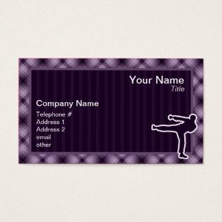 Purple Martial Arts Business Card