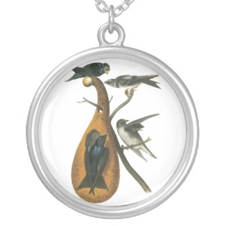Purple Martin, John Audobon Silver Plated Necklace