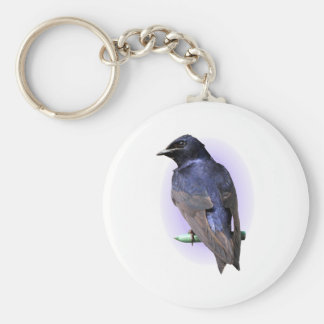 Purple Martin Male Keychain