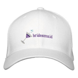 Purple Martini Personalized Embroidered hat