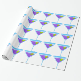 Purple Martini Wrapping Paper