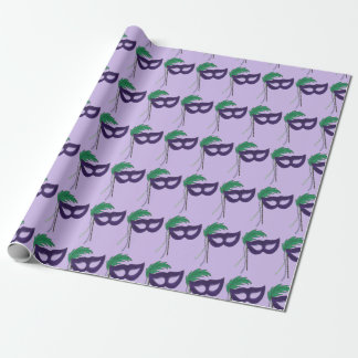 Purple Masquerade Ball Party Mask Drama Gift Wrap