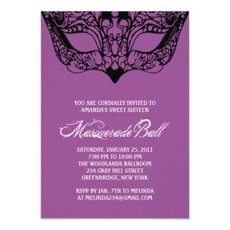 Purple Masquerade Invitations