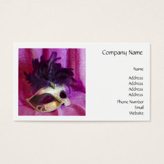 Purple Masquerade Mask Business Card